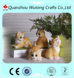 Modern Character Home Decoration Resin Funny Cat Figurine