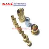 RoHS Brass Alloy Bush Nut with Two Flutes