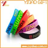 Customed Fashion Solid Imprint Silicon Wristband/Bracelets (XY-SW-003)