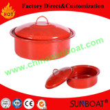 3qt Capacity Carbon Steel Customized Color Enamel Stock Pot