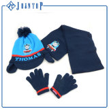 School Youth Knit Hat Scarf Glove Set