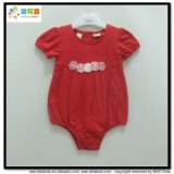 Pain Red Baby Garment Bubble Sleeve Newborn Bodysuits