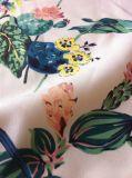 Floral Printed Ladies Summer Dress Chiffon Fabric