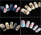 Fashion Colorful Temporary Water Transfer Nail Sticker Decoration