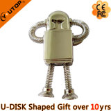Robot Metal USB Flash Drive for Creative Gifts (YT-1221)