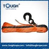 Orange7.5mmx30m4X4 Synthetic Winch Rope Tough Rope 100% Uhwmpe Fiber