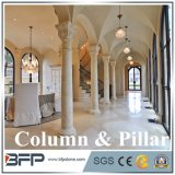 Super Crystallized Column for Villar/Hotel Decoration, White Stone Polished,