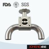 Stainless Steel Sanitary 3 Way U Type Diaphragm Valve (JN-DV1018)