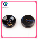 Black Resin Lettering in 4holes Button Suit Shirt Button Accessories