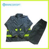 Reflective Men′s PU Raincoat 2PCS Rainsuit Rpu-005