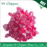 China High Quality Dark Red Color Broken Glass Chips