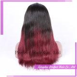 Glueless Full Lace Long Red Malaysian Virgin Hair Wig