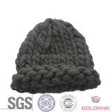 Bold Acrylic Yarn Crochet Hat for Winter