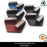 Concrete Floor 2 Bar Metal Trapezoid Grinding Diamonds tool