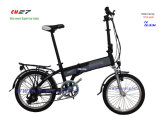 Customised Color Electric Folding Bicycle E Bike Folded Scooter 36V Hidden Battery Samsung Sony