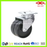 Black Plastic Twin Wheel Caster (P190-20B075X23D)