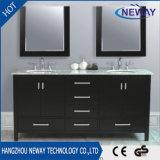 Floor Double Sink Solid Wood Bathroom Vanity Cabinet