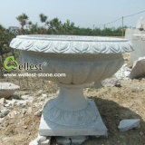 G603 Grey Granite Garden Flower Planter Pot Round Shape