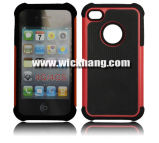 Hybrid Mobile Phone Case for iPhone 4/4s (WH-CAI4H029)