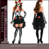 Adult Woman Skull Sexy Fancy Theatrial Party Halloween Costumes (TENN89126)