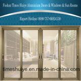 Simple Style Double Layer Glass Aluminium Sliding Door for Villa