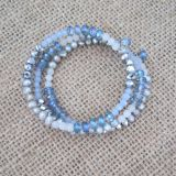 Multi-Hued Freshwater Pearl and Quartz Coil Bracelet, Fashion Jewelry (BR121018)