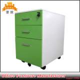 Under Table Metal Mobile Pedestal 3 Drawer Steel Filing Cabinet with Wheels