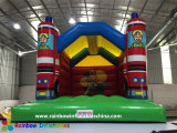 Inflatable Fire Car Bouncer Castle for School and Party