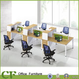China Furniture Factory Wooden Office Partition Table for Six Seats