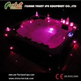 Deluxe Portable Hot Tubs Massage Whirlpool Outdoor Jacuzzi Spas with LED Light