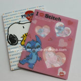 "Cartoon Printed Plastic PP / PVC 4X6"" Photo Albums with Clear Plastic Case"