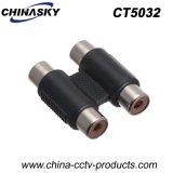 2CH CCTV Dual RCA Female to Dual RCA Female Connector (CT5032)