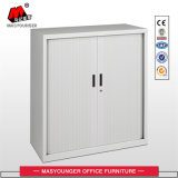 Middle Height Office Use PVC Tambour Door White Color Metal Storage Cupboard
