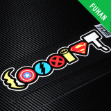 Fancy Custom Made Colorful Word Sticker