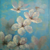 New Design Big White Flower Painting on Canvas (LH-170000)