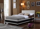 Modern PVC Leather Bedroom Furniture Hotel Bed
