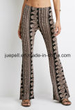 Ornate Paisley Flared Pants with an Elasticized Waist
