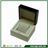 Double Color Wooden Watch Box with Button Closure
