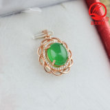 Boutique 925 Silver Natural Jadeite Pendant Jewelry