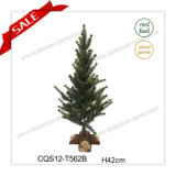 H1.4 Feet Snowing White Plastic Christmas Tree Christmas Holiday Decoration