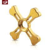 Gold Customzied Shape Machined Part for Fidget Spinner