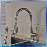 Deck Mounted Long Neck Pull Down Extension Hose Kitchen Faucet