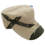 Hot Sale Military Cap with Applique Mt11