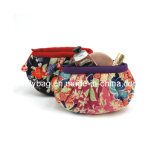 Flower Design Cosmetic Bag with Silk (FLY-CS-034)