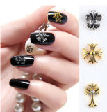 Punk Style Nail Art Decoration Alloy Nail Sticker Gold and Silver Color Nail Beauty