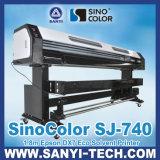 1.8 M Sinocolor Dx7 Sj740 Eco Solvent Plotter, 1440 Dpi, for Outdoor&Indoor Printing