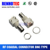 Right Angle White Plastic Coaxial Connector BNC