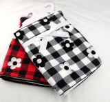 Cotton Embroidered Baby Blanket - Plaid