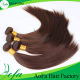 Brazilian Virgin Brown Color Straight Human Hair Extensions