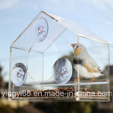 Custom Shape Acrylic Window Bird House with SGS Certificates